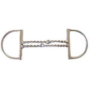 Big Dee Double Bent Twisted Wire Snaffle Bit