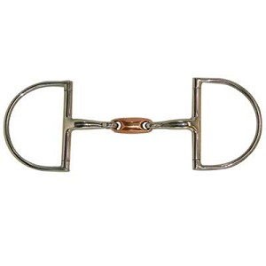 Hunter Dee Ring  Snaffle Bit with Copper Oval Link