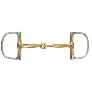 Copper Mouth Heavy Dee Ring Snaffle Bit