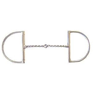 Light Twisted Wire Dee Ring Snaffle Bit
