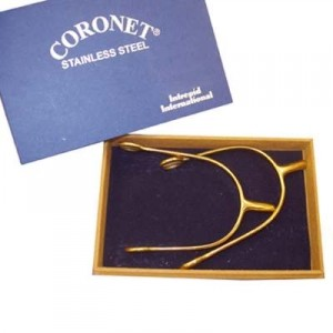 Mens Gold Plated Coronet Prince of Wales Spurs with Box