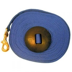 Nylon Lunge Line with Brass Snap and Rubber Stop