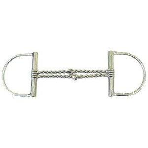 Double Twisted Wire Dee Ring Snaffle Bit