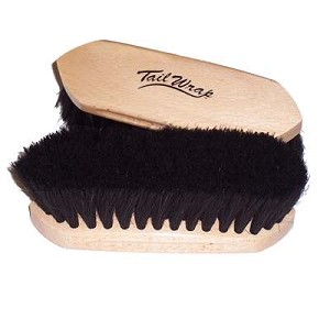 TailWrap Wooden Block Horse Hair Brush (6.25''x2.25'')