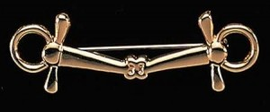Exselle Gold Plated Full Cheek Snaffle Stock Pin