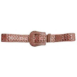 Kippys-City Lights Pink w/ point Pink Crystal Buckle (1 1/2 width) Size:34