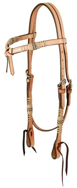 Royal King Premium Cowhide Rawhide Collection Futurity Brow Headstall