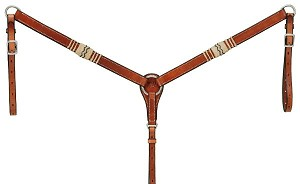 Royal King Premium Cowhide Rawhide Collection Breastcollar