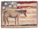 Red, White, and Blue Horse Throw