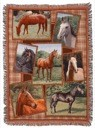 Picture Frame Horses Throw