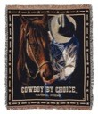 Cowboy by Choice Faithful Friend Throw