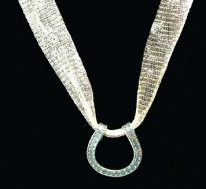 Horseshoe Necklace with Ribbon