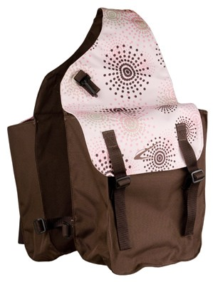 Fireworks Print Lami-Cell Medium Saddle Bag