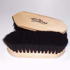 TailWrap Wooden Block Horse Hair Brush LG (8.25''x 2.625'')