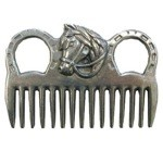 Fancy Horse Head Aluminum Pulling Comb