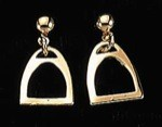 Exselle Gold Plated English Stirrup Earrings