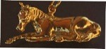 Exselle Gold Plated Resting Foal Pendant