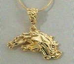 Exselle Gold Plated Drinkers of The Wind Horsehead Pendant