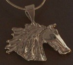 Exselle Platinum Plated Wind Blown Horsehead Pendant