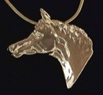 Exselle Platinum Plated Show Ready Horsehead Pendant