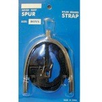 3/4'' Mens Never Rust Spurs with Straps