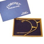 Gold Plated Coronet Prince of Wales Spurs with Box