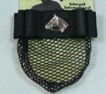 1 1/2'' Black Ribbon Bow & Net with Nickel Plated Horsehead
