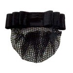 1 1/2'' Black Ribbon Bow with XL Net