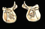 Exselle Gold Plated English Saddle Earrings
