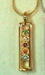 Exselle Gold Plated Pendant with Colored Stones