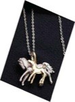 Exselle Platinum and Gold Plated Mare & Foal Necklace