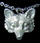 Exselle Platinum Plated Fox Head Pendant