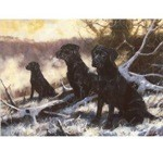 Winter Workers Card 6 Pack (Black Labradors)