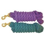 10' Braided Cotton Lead Rope with Solid Brass Bolt Snap