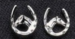Exselle Platinum Plated Horsehead in Horseshoe Earrings