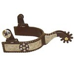 Ladies All Purpose Silver Texas Star Western Spurs