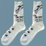Ladies Jack Russell Print Socks