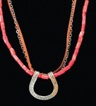 Three Strand Horseshoe Necklace