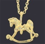Exselle Gold Plated Rocking Horse Pendant