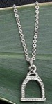 Exselle Platinum Plated English Stirrup Pendant
