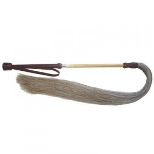 Exselle Horse Hair Fly Whisk with Loop 24''