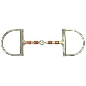 Large Dee Ring Copper Roller Mouth Snaffle Bit