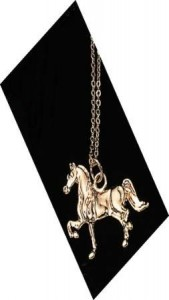 Exselle Gold Plated Show Horse Pendant