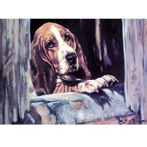 Love Locked Out Card 6 Pack (Bassett Hound)