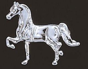 Exselle Platinum Plated Show Horse Stock Pin
