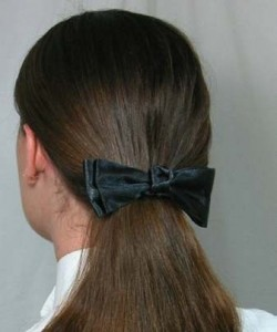 1 1/2'' Black Satin Ribbon with Knotted Center