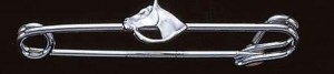 Exselle Platinum Plated Horsehead Stock Pin