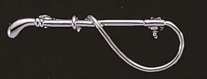 Exselle Platinum Plated Small Whip Stock Pin