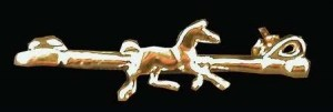 Exselle Gold Plated Crop with Horse Stock Pin