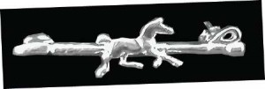 Exselle Platinum Plated Crop with Horse Stock Pin